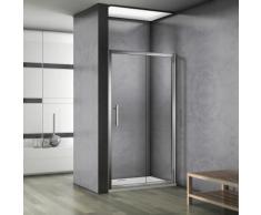 Porte de douche 130x187cm porte de douche coulissante