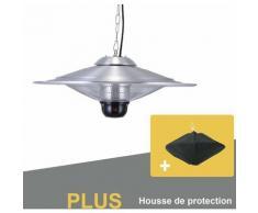 Parasol Chauffant Suspendu Infrarouge SATURN avec Télécommande et Une Lampe à LED - Chauffage