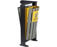 Poubelle 2 x 60 l - sans cendrier - tri divers/ plastique - métal - Recyclé - ARKEA ETIK | Rossignol