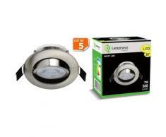 Lampesecoenergie - Lot de 5 Spot LED Encastrable Alu Brossé 7W Blanc Neutre 560lm source de lumière