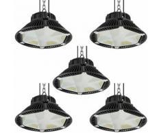 5× 100W UFO LED Anti-Éblouissement Suspension Industrielle LED Étanche IP65 Projecteur LED 100W