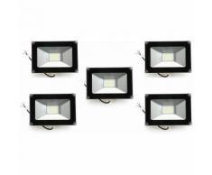5×Anten 30W Projecteur LED Spot LED Étanche IP65 Léger Lampe Solide pour Extérieur et Intérieur