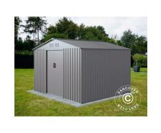 Abri de jardin 2,77x2,55x1,92m ProShed, Aluminium Gris