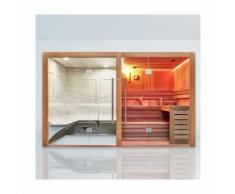 Combi Sauna Hammam Boreal® Sublimation Rouge - 8 places - 340*175*210