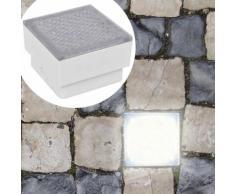 6 lampes LED d'éclairage incorporées au sol 100 x 100 x 68 mm