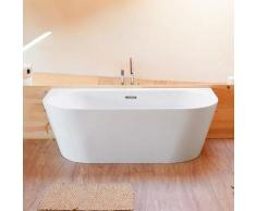 Sanycces - Baignoire design ovale TORINO MURO blanche 170 cm - Blanc