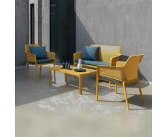 Salon de jardin polypropylène design 100x60 Net jaune par NARDI - Jaune - Extérieur