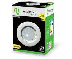 Lampesecoenergie - Spot Led Encastrable Complete Blanc Lumière Blanc Chaud 5W eq.50W ref.267