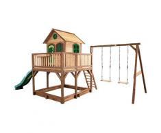 Liam Playhouse: Maisonnette pour enfants, fenêtres intégrées et bois très résistant Avec 2