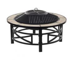 Beliani - Brasero barbecue en acier noir et céramique HIERRO
