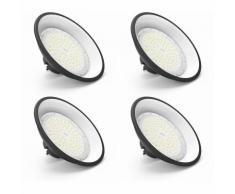 4×Anten 100W UFO Projecteur LED Lampe Industrielle Suspension IP65 Phare de Travail 13000LM Spot