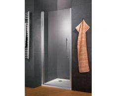 Porte de douche pivotante, verre 5 mm anticalcaire, style, profilé aspect chromé, Schulte, 100 x