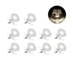 LangRay Kit d'éclairage de pont à LED encastré / 10 pièces / Chauffage basse pression 12V /