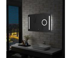 Vidaxl - Miroir mural à LED de salle de bain et capteur tactile 100x60cm