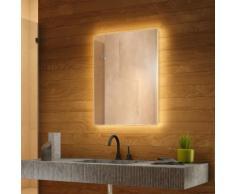 Miroir de Salle de Bain Rétro-Éclairé RGB avec Bluetooth et Capteur k707BL - multi-couleuraud