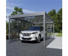 Carport aluminium Trigano - LIBECCIO + 8 claustras - 16 m²
