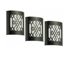 Ensemble de 3 luxe modèle noir bougeoirs or spot extérieur lumières IP44