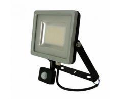 Projecteur LED SMD SLIM avec Capteur 50W 3000K° Corps Noir/Gris