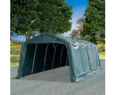 Tente amovible pour bétail PVC 550 g/m² 3,3 x 8 m Vert foncé