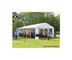 INTENT24 6x10m tente de réception, PVC env. 550g/m² anti-feu, H. 2m, blanc