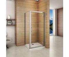 Porte de douche pivotante 100x90x187cm largeur de la paroi de douche de 90cm