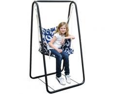 Balançoire complète: chaise + châssis en métal | Pour les enfants et les adultes | Avec accoudoirs