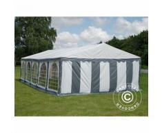 Tente de réception Original 5x10m PVC, Gris/Blanc