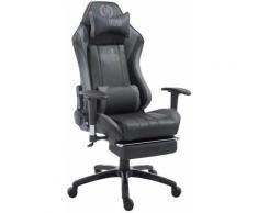 Fauteuil de bureau Shift X2 en similicuir noir/gris Avec Repose-pieds