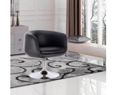 Mercatoxl - MercartoXL chaise de bar-salon avec accoudoirs en simili-cuir noir