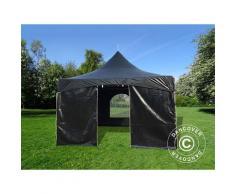 Tente de réception PartyZone 3x3m, PVC, Noir
