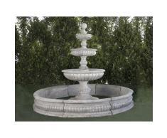 Fontaine centrale classique en pierre reconstituée Mijares 295x258cm.