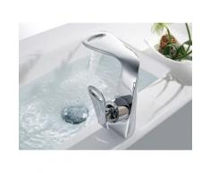 Robinet mitigeur lavabo moderne Chromé - Persée
