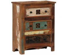 Buffet bahut armoire console meuble de rangement coffre à tiroirs 75 cm bois solide de récupération