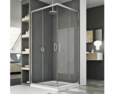 Cabine douche 72x120CM H185 transparent modèle junior