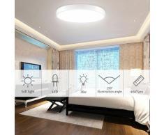 Hommoo - 8 PCS Plafonnier rond ultra-mince à LED pour la cuisine de salle de bain LiVing