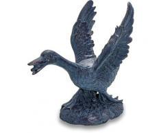 Esotec - Figurine de gargouille figurine oie jardin d?eau décoration figurine de bassin 100733