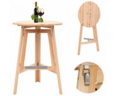 Hommoo Table de bar pliable 78 cm Bois de sapin