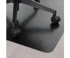 Tapis protection de sol - PVC - Noir - sol dur - 90 x 120 cm