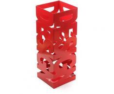 Design Porte-parapluie pour l'entrée, Chambre ou Hall, 52x19x19cm - Rouge - Versa
