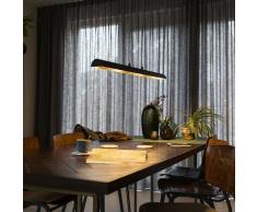Suspension salle a manger noire avec intérieur doré et LED - Balo 4 Moderne Luminaire interieur