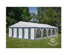 Tente de réception Exclusive 6x10m PVC, Gris/Blanc