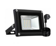 7 PCS 20W LED Projecteur SMD Lampe Extérieure Avec Prise EU Blanc Chaud LLDUK-D4NDEBT20W220VX7