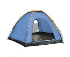 Youthup - Tente pour 6 personnes Bleu et jaune