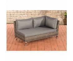 Canapé d'angle Moss rond/gris métallique Gris métal
