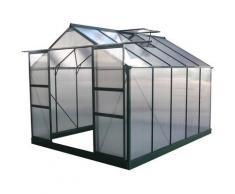 Habitat Et Jardin - Serre jardin polycarbonate 'Dahlia' Vert Sapin 7,67 m²