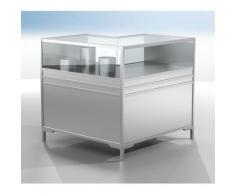 Certeo - Vitrine-comptoir d'angle LINK - vitré à 1/3 - h x l x p 900 x 1000 x 1000 mm - Coloris