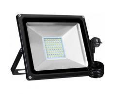 8 PCS 50W Projecteur LED SMD Lampe Extérieure Avec Prise EU Blanc Chaud LLDUK-D4NDEBT50W220VX8
