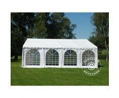 Tente de réception SEMI PRO Plus 5x8m PVC, Blanc
