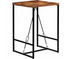 Hommoo Table de bar Bois recyclé solide 70 x 70 x 106 cm