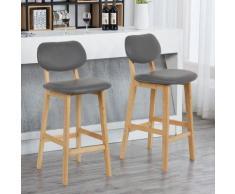 ®Lot de 2 chaises Gris Haute Chaise Cuisine Dossier - Bathrins